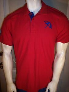 NEW Arnold Palmer Small Red Cotton Golf Shirt Travelers Umbrella Logo