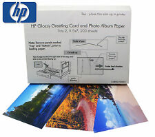 "HP Glossy Greeting Card & Photo Album Paper 200 Sheets 9.5 X 7"" (SQ8033)"