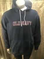 Old Navy- Navy Blue Pullover Hoody w/ Red/White Lettering- Size XL