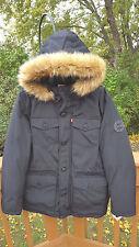NWT  Levi's Men's Puffer Parka w/ Faux Fur Hood  Sz. Small  Black  NEW  $250