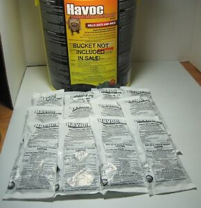 Rat & Mouse Poison Pellet Packs Brodifacoum 12 Packs 1.76 Oz FREE PRIORITY MAIL!