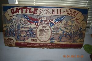 Vintage Marx Battle Of The Blue & Gray #4760 Series 2000 Play Set Box