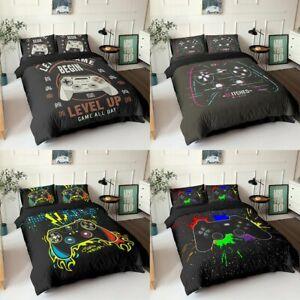 Gamer Bedding Set Gamer Quilted Duvet Set Pillowcase UK King Queen Single Double