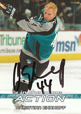 CHRISTIAN EHRHOFF SHARKS AUTOGRAPH AUTO 03-04 IN THE GAME ACTION #661 *22138