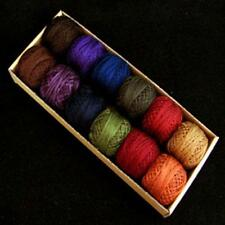 Valdani Perle Cotton Size 12 Embroidery Thread Bigsby Designs Dark Sampler Set