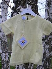 NUOVO Petit Bateau maglietta t-shirt bimba 18 mesi gialla