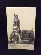 La Guerre (The War) 1914-15-16 WW1 France Postcard Showing Damage From Bombing