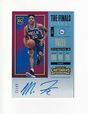 2017-18 Panini Contenders The Finals Ticket Rookie Auto RC MARKELLE FULTZ /49