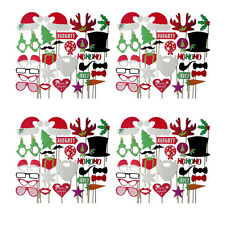28pcs Christmas Photo Booth Props Antlers Xmas hat  Party Photography Wedding