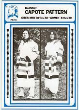 Indian, Frontier Style Blanket Capote Coat Men Women Eagle's View Sewing Pattern