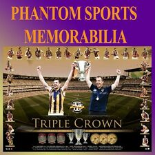 2013 2014 2015 HAWTHORN HAWKS PREMIERSHIP PREMIERS TRIPLE CROWN THREE PEAT PRINT