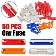 50Pcs 5A 8A 16A 25A Ceramic Continental Car Fuse Torpedo Type Assortment Kit Set