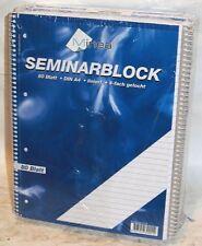10 Stück, Seminarblock, Spiralblock, Schulblock,Collegeblock, A4, Liniert, 80 Bl