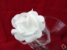 Boite à dragée en forme de rose blanche x10