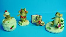 Adorable Group Of 4 Fitz & Floyd Charmin' Tales Mouse Figures