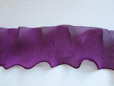Púrpura De Gasa Con Volados plisado y adorno crafts/costume/victorian / goth/corsetry