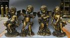 10  Collect China Pure Bronze Piano Violin Child Boy Kid Angel Cupid Statue Set