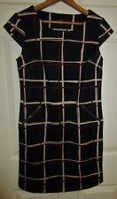 New R&K women petite sz 2P navy blue red ivory pullover sheath dress stretch