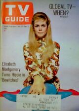 TV Guide 1968 Bewitched Elizabeth Montgomery Turns Hippie Agnes Moorehead EX COA