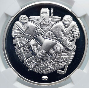 2012 BELARUS Ice Hockey Championship in MINSK Proof Silver 20R Coin NGC i89346