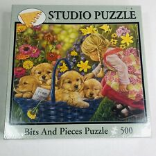 New Studio Basket Full Of Love Free Puppies Bits And Pieces Puzzle 500 Piece