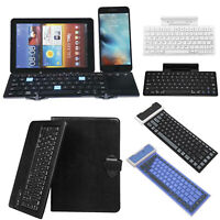 Wireless Bluetooth Portable Silicone Foldable Tablet Phone Keyboard Waterproof