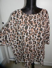 NEXT leopard animal print top t-shirt size 18