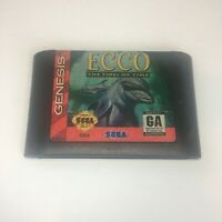 Ecco: The Tides of Time Tested & Authentic (Sega Genesis, 1994) Game Cartridge