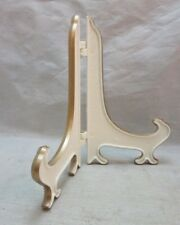 Vintage white plastic plate display stand