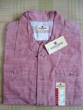 WOOLRICH MENS BUTTON DOWN SHIRT SHORT SLEEVE X-LARGE  ~NEW W/TAGS~