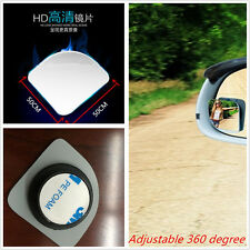 2Pcs Car Auto Clear Wide Angle Adjustable Rearview Side Blind Spot Sector Mirror