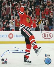 MARIAN HOSSA Signed Chicago BLACKHAWKS 8x10 PHOTO with Beckett COA