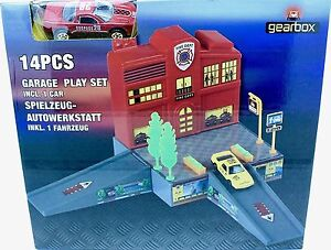 Gearbox 14PCS Garage Play Set incl.1 Car for Kids, Children Playing Toy