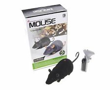 "10"" Infrared Realistic RC Mouse Rat Remote Control 2CH Black Scare Your Friends!"
