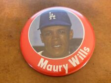 1960s Maury Wills Los Angeles Dodgers Photo Baseball Button