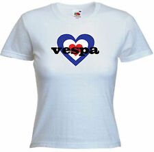 Scooter Ladies Fitted Tees, Vespa heart, I love Vespa, Vespa, Scootering