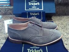 $695 Tricker's Whitman wingtip shoes, UK 11 US 11.5,oxford suede,new in box!