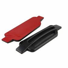 Chrome Auto Car Hood Side Air Intake Flow Vent Fender Black Rubber Sticker Cover