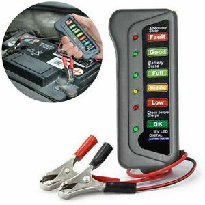 LED Dynamo Battery Checker Tester 12V Indicator Light Car Truck Motorcycle