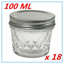 18 x SMALL QUILTED CONSERVE JAM CANDLE MAKING GLASS JARS JAR 100ML CANDY PARTY A