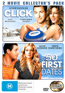 Click + 50 First Dates -Rare DVD Aus Stock Comedy -Excellent