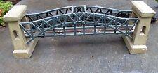Vtg Model Railroad Handcrafted Cantiliver Wood Bridge Modeled on Hellgate Bridge