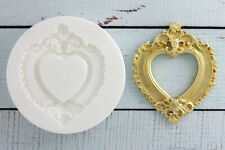 Silicone Mould Ornate Heart Wedding  Picture, Photo Frame,Ellam Sugarcraft  M050