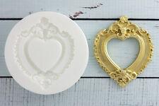 Silicone Mould Ornate Heart Wedding  Picture, Photo Frame,Ellam Sugarcraft  M050