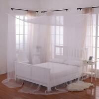 Large 4 Corner Post Bed Canopy Mosquito Net Full Queen King Size Netting Bedding