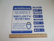 Home Security Alarm System Yard Sign & 4 Window Stickers - Stock # 719