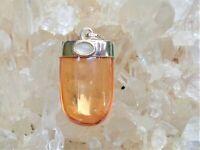 Tangerine Aura Quartz+Moonstone Sterling Silver Pendant! Energize! 99 % Clarity!
