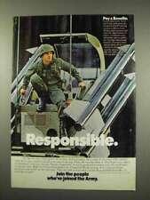 1978 U.S. Army Ad - Responsible