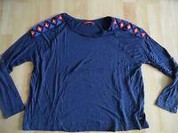 EDC by ESPRIT schönes Jerseyshirt blau m. Perlen  Gr. S TOP DN615