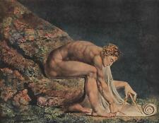 William Blake ISAAC NEWTON Vintage CHROMOTYPE Romantic Age #147